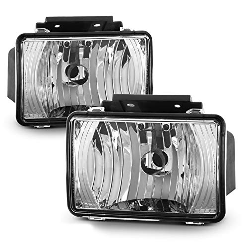 Fits 2004-2012 Chevy Colorado | GMC Canyon | 06-08 Isuzu i-Series Black Bumper Driving Fog Lights Lamp Pair Left+Right