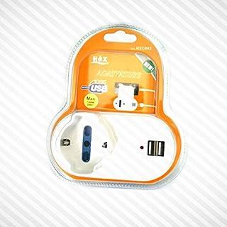 takestop® Adattatore Presa Spina ELETTRICA 16A BIPASSO SCHUKO 2 Porte USB Porta Smartphone