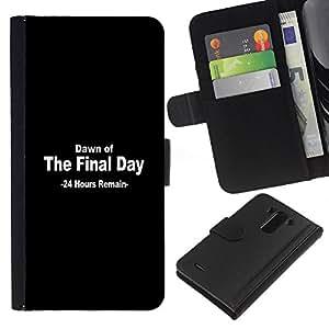 LECELL--Cuero de la tarjeta la carpeta del tirón Smartphone Slots Protección Holder For LG G3 -- Amanecer del Día Final --