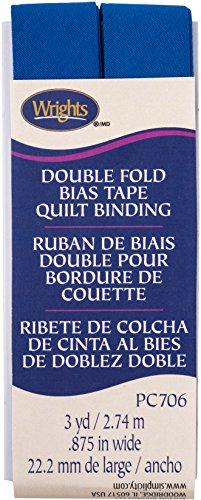 (Wrights Snorkel Blue Double Fold Quilt Binding 7/8