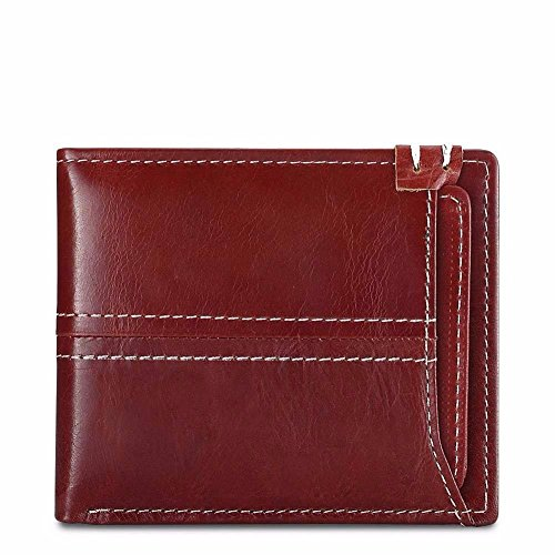 gules open wallet money Leather Mini pocket LIGYM Men's bag pocket zIOUS