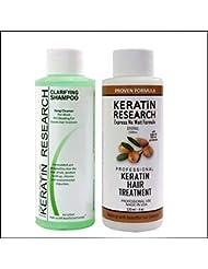 Complex Brazilian Keratin Hair Blowout Treatment Professional Results Straighten and Smooths Hair (CS 120ml + KT 120ml) Queratina Keratina Brasilera Tratamiento