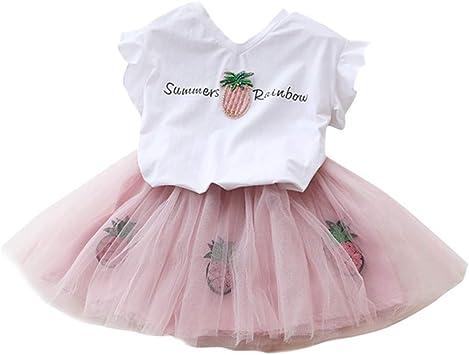 Kariwell - Conjunto de Camiseta y Falda de tutú para niña con ...