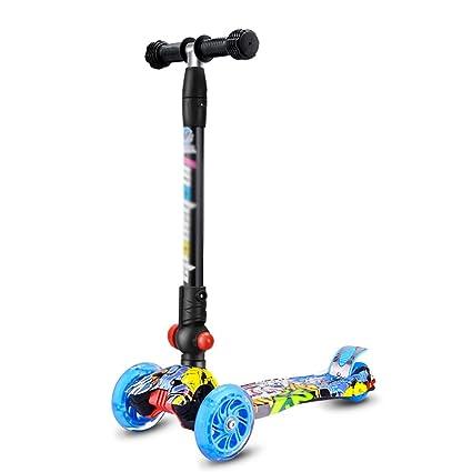 Patinete- Scooter Plegable Moto Scooter de Cuatro Ruedas ...