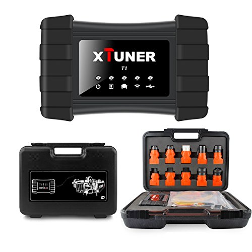 XTUNER T1 Professional Heavy Duty Truck Diagnostic Scan ToolDiesel OBD Truck Diagnostic Tool for Cummins for HINO FUSO ISUZU Multiple Trucks ABS Brake All Systems (Isuzu Heavy Duty Trucks)