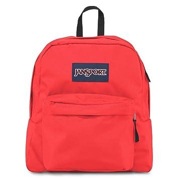 Amazon.com: JanSport Spring Break Backpack FLUORESCENT RED: Sports ...