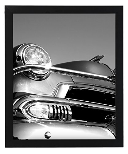 18x24 Black Picture Frame - Smooth Wood Finish - 1-Inch Wide, Black (Black)