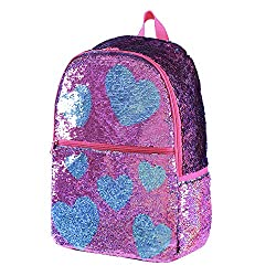 Orchid with Heart  Reveriable Sequence Back Pack