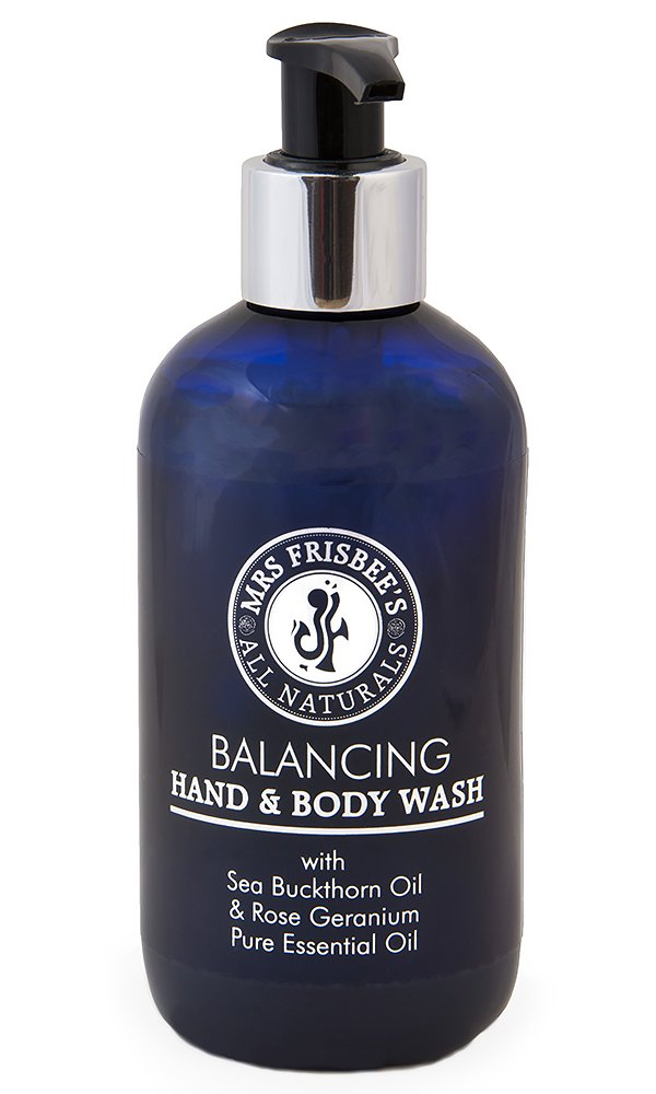 Mrs Frisbee's All Naturals Rose Geranium (Balancing) Hand and Body Wash With Sea Buckthorn Oil 0700621914044
