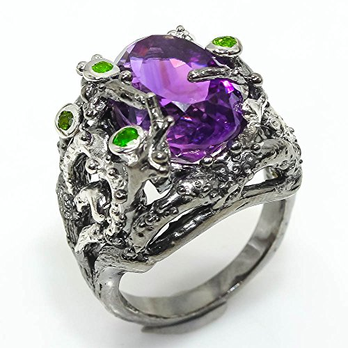 ONE OF A KIND NATURAL AMETHYST RING SIZE 7.25 US