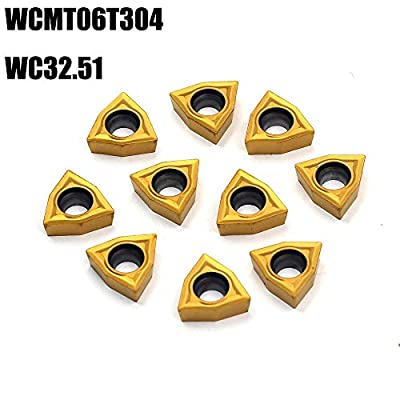 OSCARBIDE Carbide Turning Inserts WCMT06T304(WC32.51),WCMT Inserts CNC Lathe Insert for Indexable Lathe Turning Tool Holder Insert Replacement,10 pcs/Pack