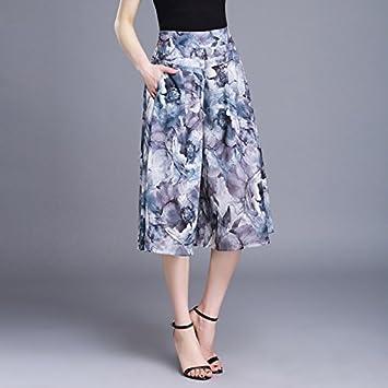 b7ce42bee5b Women wide leg pants female summer chiffon loose skirt pants plus size  trousers