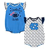 Gen 2 NCAA North Carolina Tar Heels Newborn & Infant Heart Fan 2pc Bodysuit Set, Multi, 3-6 Months