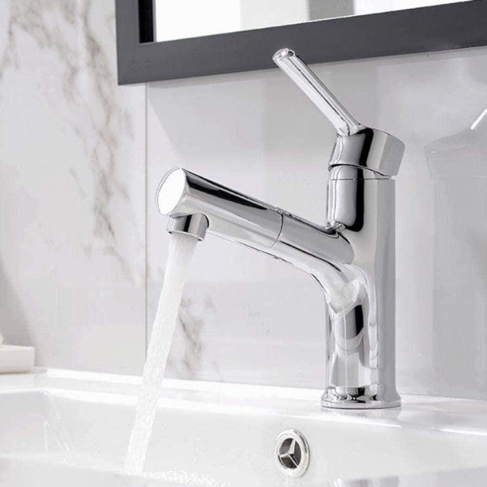 Grifo Extractor de latón de alta calidad Grifo del lavabo del baño Grifo del lavabo del lavabo Grifo monomando en la cubierta Grifo mezclador de agua fría y caliente