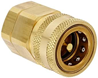 3//4 NPTF Male x 3//4 Coupling Size Snap-Tite BVHN12-12M Brass H-Shape Quick-Disconnect Hose Coupling Nipple