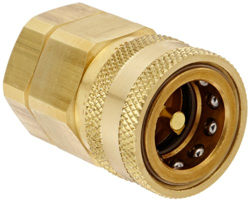 Snap-Tite BVHC12-12F Brass H-Shape Quick-Disconnect Hose Coupling, Sleeve-Lock Socket, 3/4
