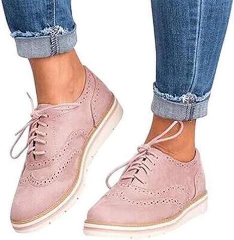 XLBHSH Damen Schnürschuhe Oxford Schuhe Feminine Brogues