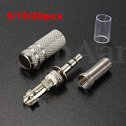 20pcs NEW 3.5mm mono Male Repair Earphones Jack Plug Audio Soldering connector