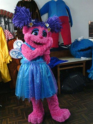Sesame Street Abby Cadabby Fairy Cartoon Tv Mascot SpotSound (Abby Cadabby Adult Costume)