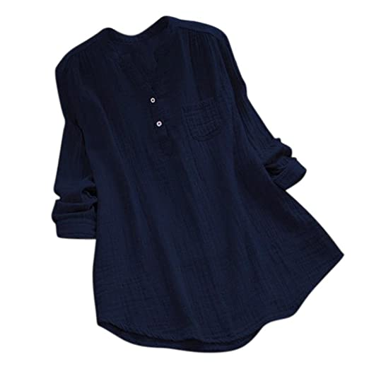 8a8923c5b66 iLH®  Lightning Deals Women Blouse Clearance Women Plus Size Tshirt Long  Sleeve Blouse Casual Loose Tunic Tops at Amazon Women s Clothing store