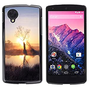 "For LG Nexus 5 D820 D821 , S-type Sunset Beautiful Nature 59"" - Arte & diseño plástico duro Fundas Cover Cubre Hard Case Cover"