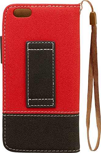 Iphoria Fun Color Book Case für Apple iPhone 6 rot/schwarz
