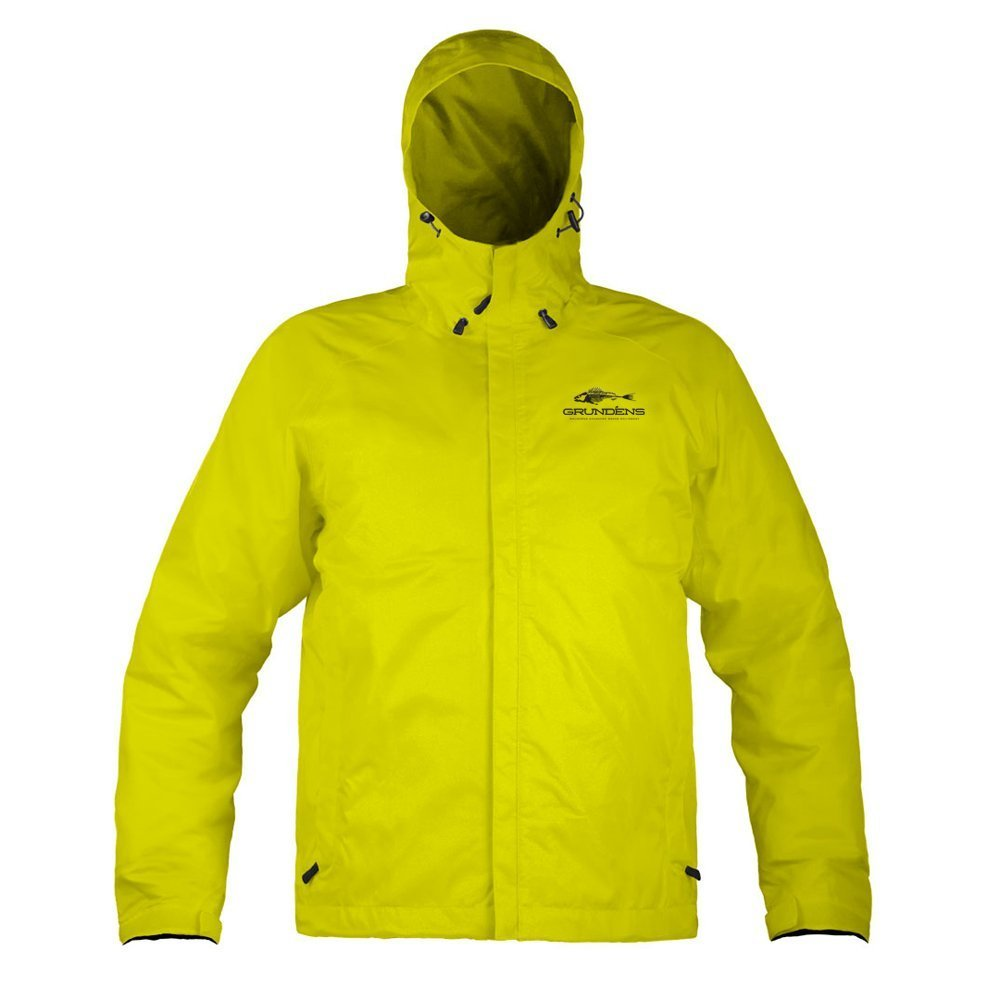 Grunden's Men's Gage Weather Watch Jacket, Hi Vis Yellow, XX-Large
