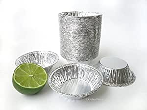 "KitchenDance 3"" Disposable Aluminum Tart Pans/Mini Pie Pans #301- Pack Of 100"