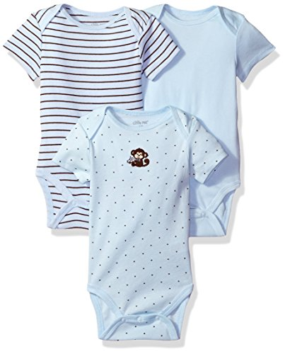 Little Me Baby-Boys Newborn Monkey Star 3 Pack
