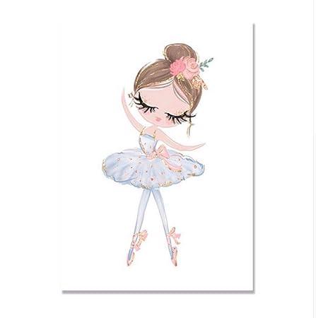 MLHJ9 Ballet Cartel de la Princesa Unicornio Arte de la ...