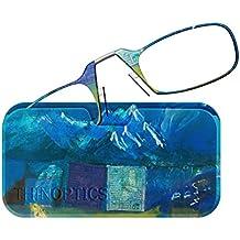 ThinOPTICS Reading Glasses + Universal Pod Case | Gregory Burns Designer Collection, Carry On-Keep Walking, 2.00 Strength, Lifetime Guarantee
