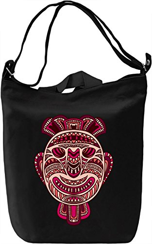 Tribal mask Borsa Giornaliera Canvas Canvas Day Bag| 100% Premium Cotton Canvas| DTG Printing|