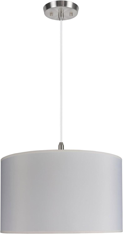 Aspen Creative 71007 Two-Light Pendant with Hardback Drum Shaped Spider Shade, 17 x 17 x 10, Off-White TETORON