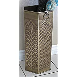 Solid Brass Umbrella Stand Octagon Mediterranean