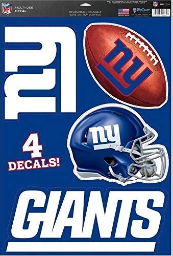 New York Giants Team Set of 4 Giants Logo Football Helmet Sign - Official NFL Vinyl Wall Graphics 15