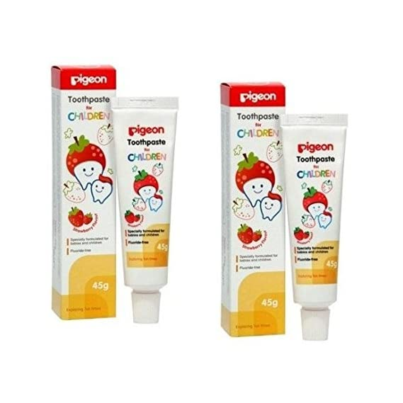 Pigeon Combo Children Toothpaste (Strawberry) 45g, Pack of 2