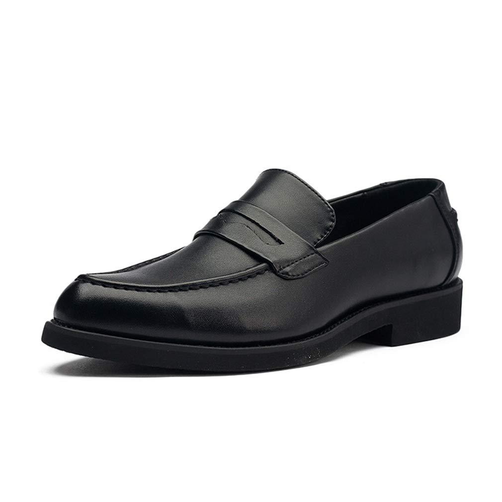 YAN Herren Formelle Schuhe, Low-top Freizeitschuhe Faulenzer & Slip-Ons Fahr Schuhe Hochzeit & Abendkleid Schuhe (Farbe   Schwarz, Größe   41)