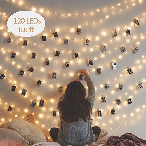 String Lights for Bedroom,Firefly Mason Jar Fairy Lights, TOFU 120 LED Mini Copper Wire Indoor Outdoor Decorative Lights For Christmas, Holiday, Dorm, Curtain, Garden, Yard, Parties, Wedding