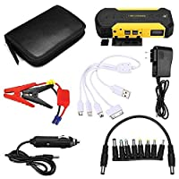 HERCHR Car Jump Starter, 88000mAH Mobile Power Supply Automobile Emergency Battery 12V Power Bank Charger for Laptop Phone Camping Light CXR