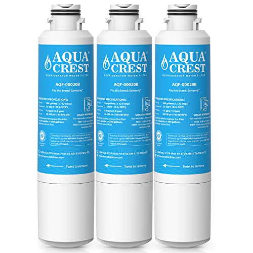 AquaCrest DA29-00020B Refrigerator Water Filter Replacement for Samsung DA29-00020B, DA29-00020A, HAF-CIN/EXP, 46-9101 Water Filter (Pack of 3)