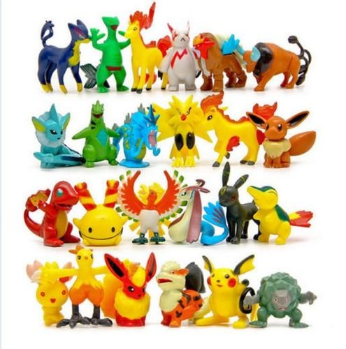[Shalleen 24x Exquisite Wholesale Cute Pokemon Mini Random Pearl Figures Kids Animal Toy] (Animal Costumes Coupon Code)