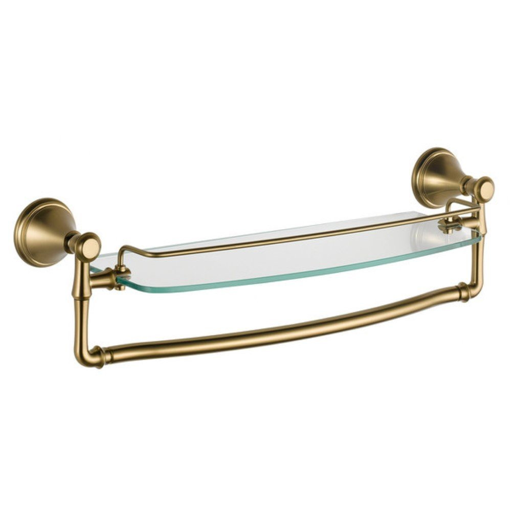 Cassidy Bathroom Shelf, Wall Mounted Shelving (18'', Champagne Bronze) by Delta