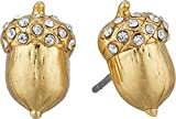 Kate Spade New York Women's So Foxy Pave Acorn Studs Clear/Gold One Size