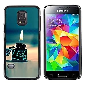 TopCaseStore / la caja del caucho duro de la cubierta de protección de la piel - Gas Poker Gambling Flame Beach - Samsung Galaxy S5 Mini, SM-G800, NOT S5 REGULAR!