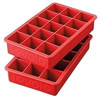 Bandejas de hielo Tovolo Perfect Cube, Candy Apple - Juego de 2