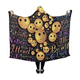 WUTMVING Hooded Blanket Meditation Sensing Observing Being Spiritual Mind Blanket 60x50 Inch Comfotable Hooded Throw Wrap