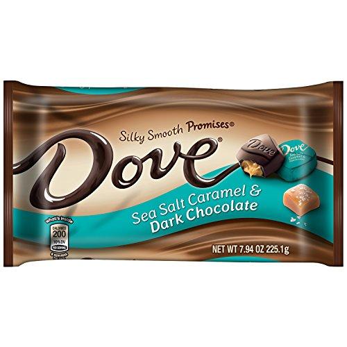 DOVE PROMISES Sea Salt Caramel and Dark Chocolate Candy 7.94-Ounce Bag (Pack of ()