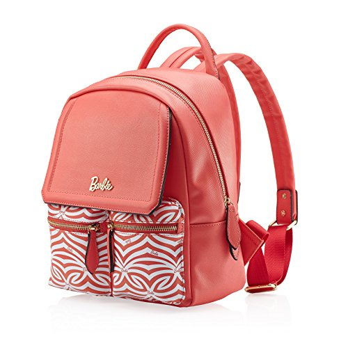 Barbie Mochila de viaje Bolso de hombro para mujer Bolso escolar de Borlas para chicas 2