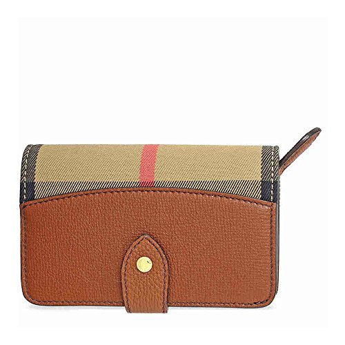 Burberry-House-Check-Leather-Wallet-Tan