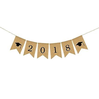 amazon com famoby letters 2018 burlap banners for graduation party